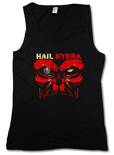 HAIL HYDRA DONNA CANOTTA TANK TOP - Captain Heil Red Skull World War Comic Hero Red Captain Logo Nick SHIELD Fury America Taglie S - XL