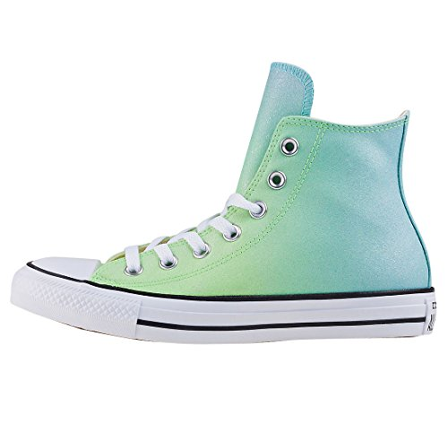 Converse Chuck Taylor All Star Ombre Metallic Hi Illusion Green Synthetic Trainers Pastel Green
