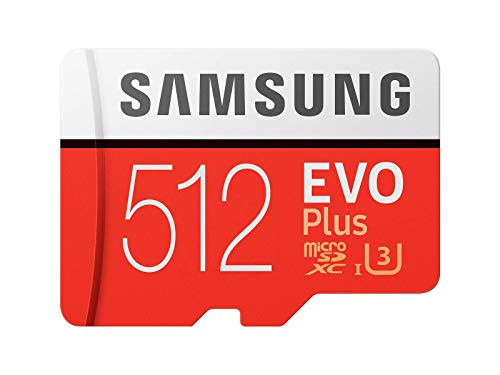Samsung Memory MB-MC512GAEU 512 GB Class 10 - U3 EVO Plus Micro SD Karte mit Adapter