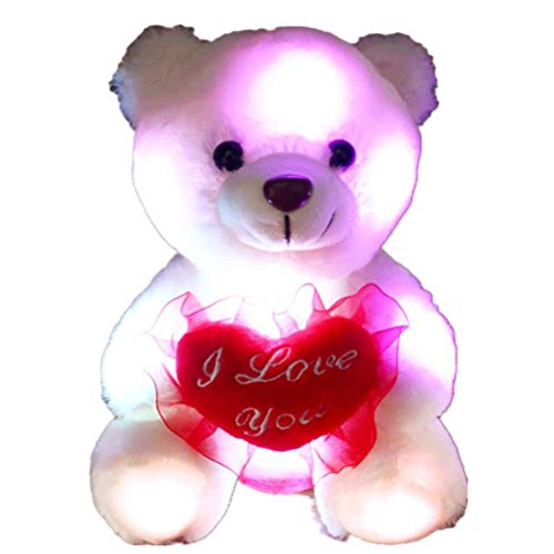 Bear Plush Toy Soft Toy Doll LED Colorido luz de...