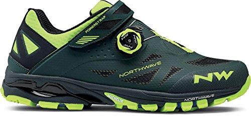 Northwave Spider Plus 2 MTB Trekking Fahrrad Schuhe grün/gelb 2018: Größe: 45