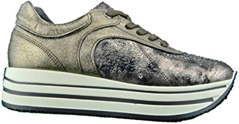 IGI&CO 21466433 Bronzo scarpe da ginnastica Zeppa Zeppa Zeppa Donna con Gomma Alta | Abbiamo Vinto La Lode Da Parte Dei Clienti  625766