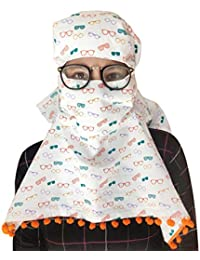 Switchon Export quality Cotton Multi color scarf cum Mask for 12 yrs and above