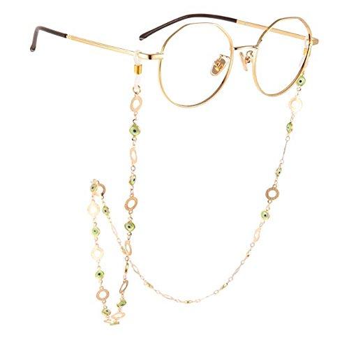 Mode Brille Kette Metall Sonnenbrille hängende Hals rutschfeste Lanyard, 02