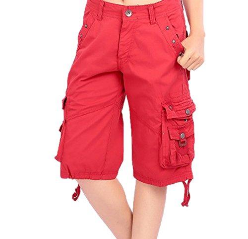 Shorts casual all'aperto dritti moda unisex, pantaloncini da campeggio multifunzione da esterno pantaloncini da combattimento