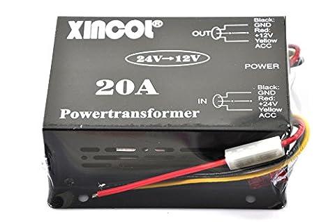 Xincol 20A 240W Camion de voiture d'alimentation DC 24V vers