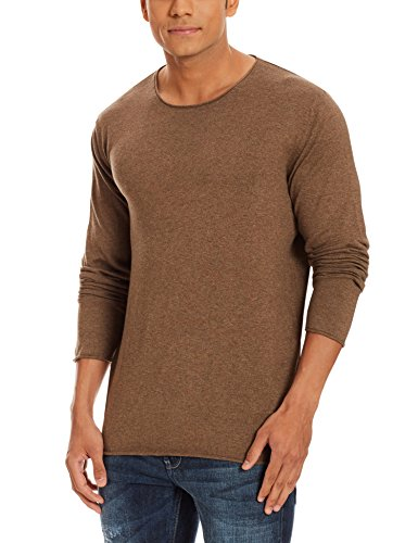 SELECTED HOMME Herren Pullover Shddome Crew Neck Noos Braun (Caribou)