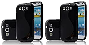 S Line Grip Back Case Cover for Samsung Galaxy S III I9300 - Value for Money Pack of 2