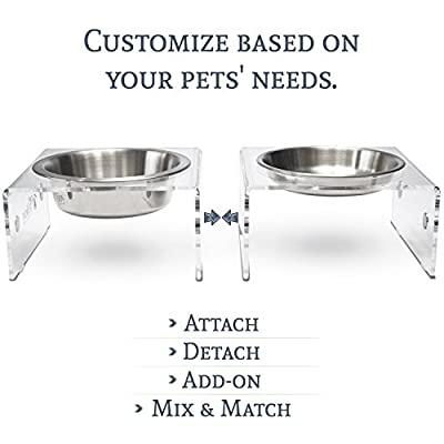 PetFusion Innovative SinglePod Magnetic Pet Feeder. [Attach, Detach, Add On, Mix & Match] … from PetFusion