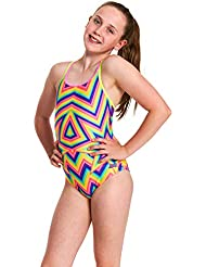 Zoggs Girls' Duoback Eco Swimsuit