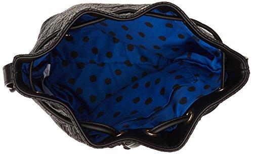 Desigual LUGANO CARLOTA - Borsa a tracolla Donna, Nero (2000), 19x26x12.50 cm (B x H x T)