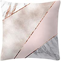 CUIGU Pillow Case Rose Gold Geometric Pineapple Glitter Cushion Cover One Side Printed, 45X45CM