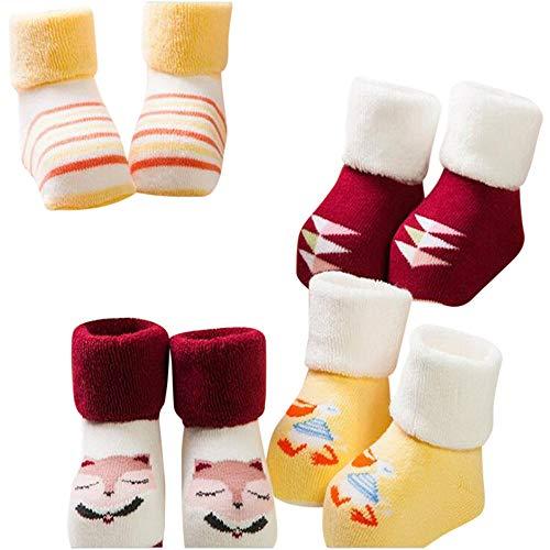 ITISME Socken 4 PairsToddlers Kinder Mädchen Nette Muster Socken Baumwolle Boden Socken