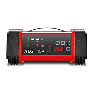 AEG Automotive 97024 microprocessor charger LT 10 amp for 12 and 24V batteries, 9-stage, power supply and automatic temperature compensation, LT10