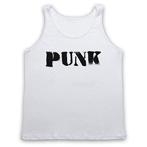 Punk Hipster Tank-Top Weste Weis