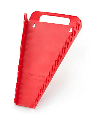 TEKTON 79372 Tragbare Aufbewahrungsleiste für 15 Schraubenschlüssel / Schraubenschlüssel-Halter, rot