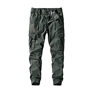 Herren Chino Hose Loose Fit Stretch Arbeitshose Herren Cargo Seitentaschen Outdoor Stoffhose