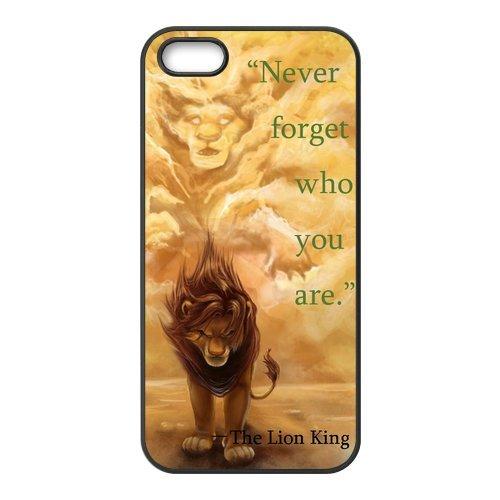 iPhone 5/5S custodia, cover in TPU per Apple Iphone 5S/5, il re leone Design Custodia e Pellicola Proteggi Schermo per iPhone 5/5S