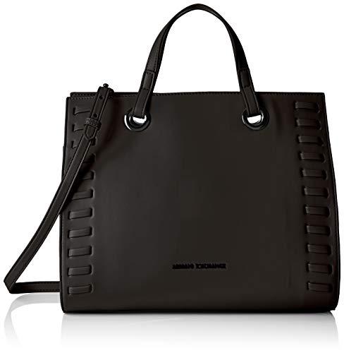 Armani Exchange Damen Medium Shopping Bag Tote, Schwarz (Black), 26x15.5x32 cm