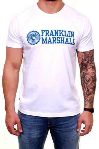 Franklin-Marshall-Mens-TSMVA299S15-White-Size-Small-100-cotton