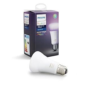Philips Hue White & Color Ambiance E27 LED Lampe Erweiterung, 3. Generation, dimmbar, bis zu 16 Millionen Farben, steuerbar via App, kompatibel mit Amazon Alexa (Echo, Echo Dot)