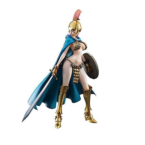 Wsjdmm One Piece Rebecca Pop Atractiva Alta Postura de pie Armadura Coliseo PVC Mano...
