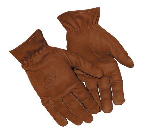 Benisport - Guantes de tiro piel nobuk cuero talla m, color marrón