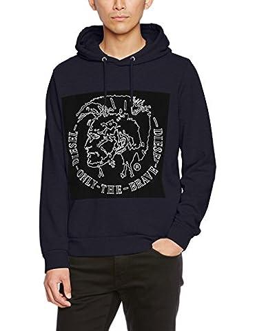 Diesel Men's S-Albert Sweatshirt, Blau (81E-Midnight / Blue 0Iaeg), X-Large