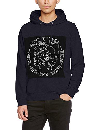 Diesel Herren Sweatshirt S-Albert, Blau (81E-Midnight / Blue 0Iaeg), Medium (Pullover Diesel Herren)