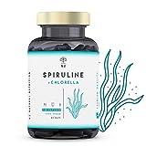 Chlorella Espirulina.Spirulina Potente DETOX Antioxidante-Sistema Inmunitario-Proteinas Vegetales-Hierro-Elimina Metales-Probiotico-180