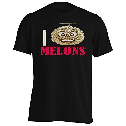 Amo Meloni Frutta Verdura Fresca Uomo T-shirt a355m Black