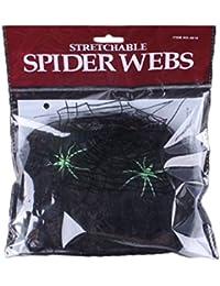 Preisvergleich für Spinnennetz, Dehnbare Spinnennetz Halloween Stützen Dekor Dekor furchtsame Partei Szene Innenfest Dekoration im...