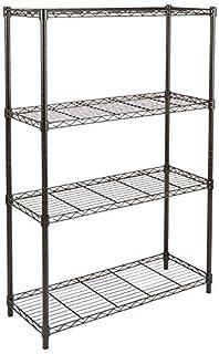 AmazonBasics 4-Shelf Shelving Unit, up to 160 kg per shelf, Black (B01LYBQXRH) | Amazon price tracker / tracking, Amazon price history charts, Amazon price watches, Amazon price drop alerts