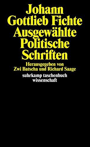 Ausgewählte politische Schriften (suhrkamp taschenbuch wissenschaft)