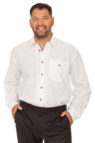 orbis Textil H106 - Trachten Hemd für Anzug weiß Größe XL