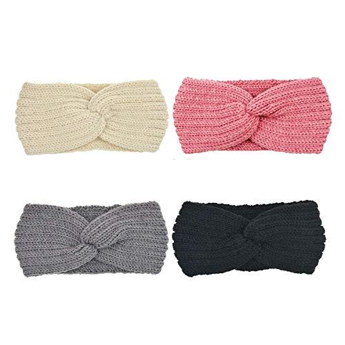 DRESHOW 4 Pack Crochet Turban He...