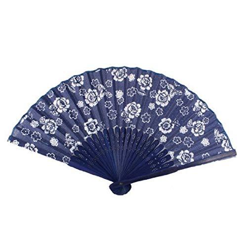 Rocita Damen Hand Fan Orchid Muster Faltbare Sommer -