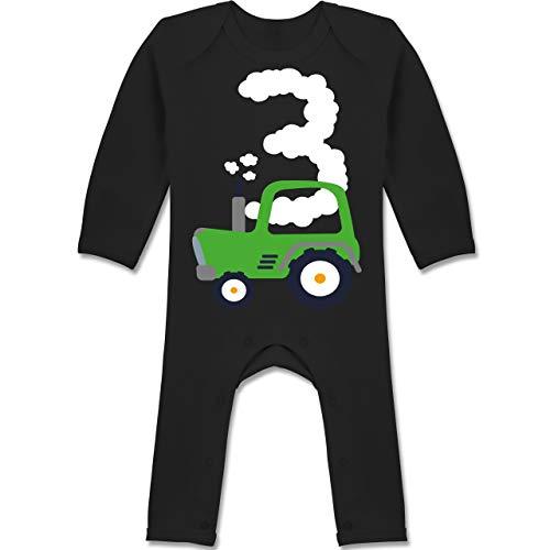 Shirtracer Geburtstag Baby - Traktor Geburtstag 3-6-12 Monate - Schwarz - BZ13 - Baby-Body Langarm für Jungen und Mädchen