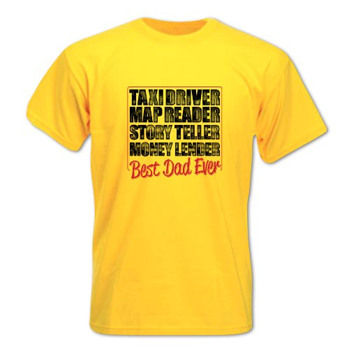 Herren Vatertag TAXIFAHRER T-Shirt Gelb