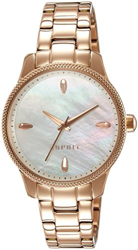 ESPRIT ES108602006Ladies Watch, Stainless Steel, VERGOLDET3Analog Rose