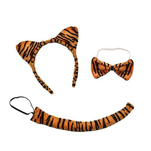 süß Tiger 3-Piece Buch Tag Kostüm Satz ( Ohren Stirnband, Schwanz & (Kostüm Set Tiger)