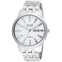 OMAX Analog White Dial Men's Watch - SS412