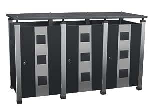 Mülltonnenhaus für drei 240 Liter Tonnen, Modell Pacco Quad 3