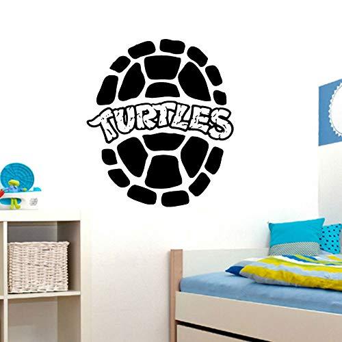 HNXDP Ninja Turtles Wandtattoo Home Interior Design Kinderzimmer Spielzimmer Dekor Jungen Zimmer Wandkunst Wasserdicht Abnehmbare Aufkleber Lila 42X48 CM (Purple Name Ninja Turtle)