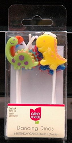 betty-crocker-dancing-dinos-birthday-candles-one-package-of-6-by-betty-crocker