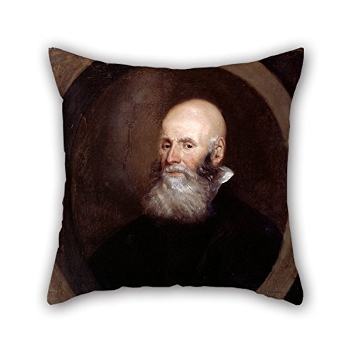 jinhua19 kissenbezüge Christmas Pillowcase of Oil Painting Greenhill, John - Head of A Bearded Man 18 X 18 Inches / 45 by 45 cm Fit for Dance Room Festival Girls Outdoor Family Shop Twice Sides
