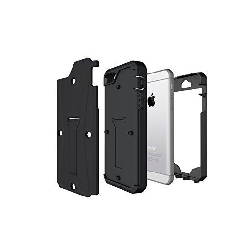 iPhone Case Cover 3 In 1 neue Rüstung Tough Style Hybrid Dual Layer Rüstung Defender PC Hartschalen mit Ständer Shockproof Fall Für IPhone 5 5S SE ( Color : Black , Size : IPhone SE 5S ) Black