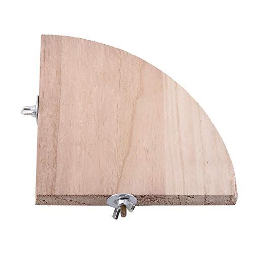 Heepdd piattaforma per uccelli, forma a ventaglio in legno trampolino per uccelli stand per parco giochi gabbia accessori per pappagallo giocattolo per piccoli animali