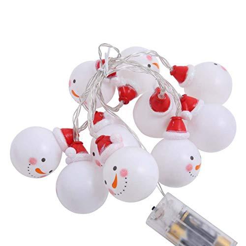 Inicio Schneemann LED Lichterkette Lampendekor für das Haus Neujahr Frohe Weihnachten