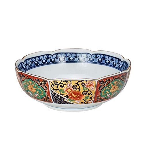 Seven stars Cuenco de cerámica Inicio Retro Vajilla Cuenco de Sopa de Estilo japonés Cuenco de Ramen Tazón Grande Cuenco de Sopa 3 Tamaño Opcional (Tamaño : L)